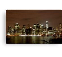 Lower Manhattan At Night Canvas Print
