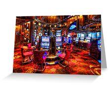 Vegas Slot Machines 2.0 Greeting Card