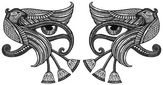 Eye of Horus - Dual / Mirrored by Anita Inverarity