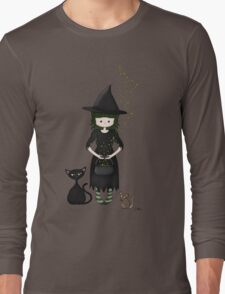 Whimsical Little Witch Long Sleeve T-Shirt