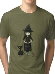 Whimsical Little Witch Tri-blend T-Shirt