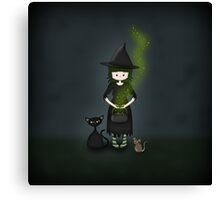 Whimsical Little Witch Canvas Print