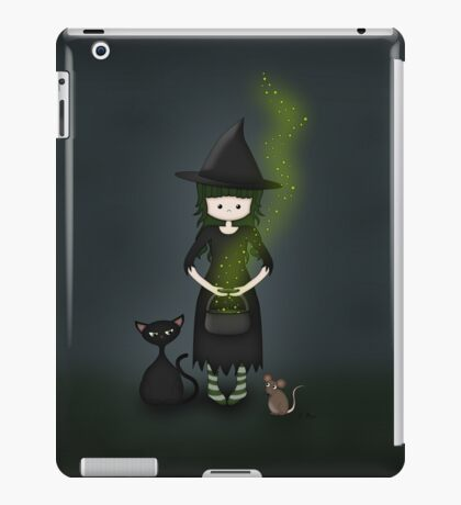Whimsical Little Witch iPad Case/Skin