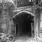 Highgate cemetery - Egyptian gate by Karen Hood