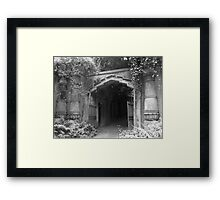 Highgate cemetery - Egyptian gate Framed Print