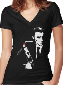American Psycho T-Shirt Women's Fitted V-Neck T-Shirt
