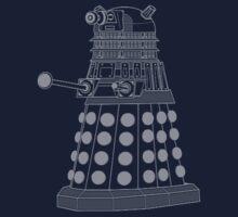 White ASCII Dalek One Piece - Short Sleeve