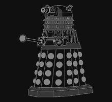 White ASCII Dalek Unisex T-Shirt