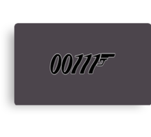 007 Binary 00111  Canvas Print