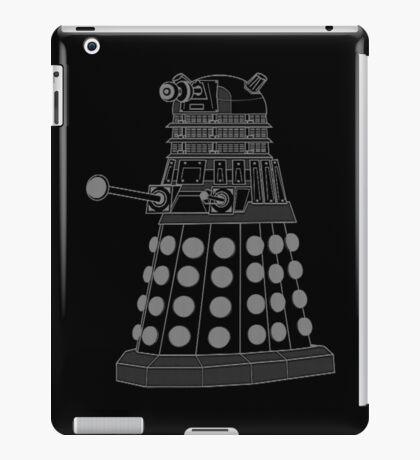 White ASCII Dalek iPad Case/Skin