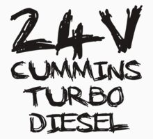 24 V Cummins Turbo Diesel by Truck Tee's