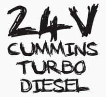 24 V Cummins Turbo Diesel One Piece - Short Sleeve