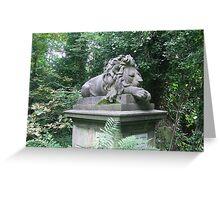 Highgate cemetery - lion memorial Greeting Card