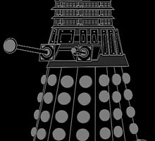 White ASCII Dalek by kayve