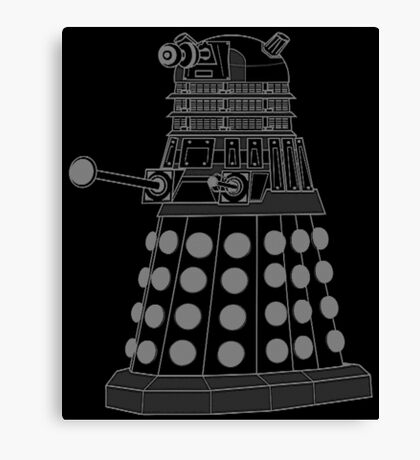White ASCII Dalek Canvas Print