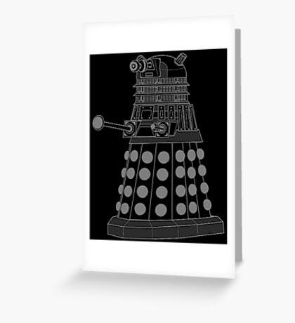 White ASCII Dalek Greeting Card