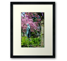 A Spring view on Mr. Bunsen Framed Print
