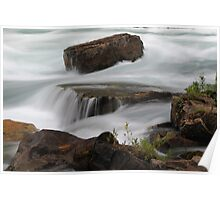 Rushing Water Over Rock Poster