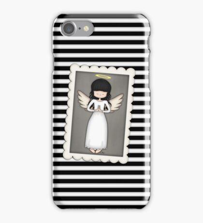 Whimsical Black and White Angel iPhone Case/Skin