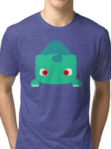 Confused Grass Dinosaur Tri-blend T-Shirt
