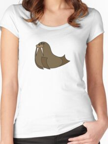 Dorky Walrus Women's Fitted Scoop T-Shirt