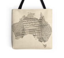Old Sheet Music Map of Australia Map Tote Bag