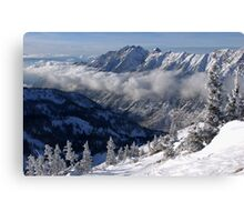 Mountains from summit of Snowbird ski resort in Utah Canvas Print