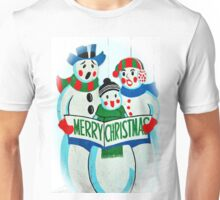 Singing Snowman Family Unisex T-Shirt