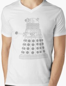ASCII Dalek Mens V-Neck T-Shirt