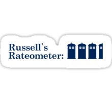 Russell's Rateometer Sticker