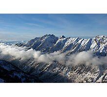 Mountains from summit of Snowbird ski resort in Utah Photographic Print
