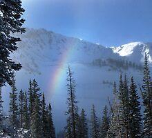 Winter rainbow at Alta ski resort, Utah by Anton Oparin