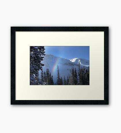 Winter rainbow at Alta ski resort, Utah Framed Print