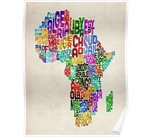 Typography Map of Africa Poster