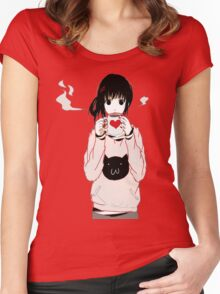 kawaii Women's Fitted Scoop T-Shirt