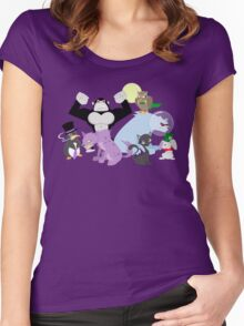 Arkham Zoo Women's Fitted Scoop T-Shirt
