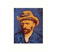 Vincent Van Gogh portrait Art Print