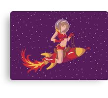 Red Rocket Pin-Up Canvas Print
