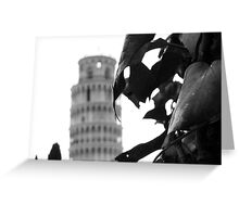 Mirage of the Leaning Tower Greeting Card