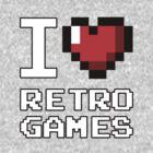 I Heart Retro Games by MagicPaul