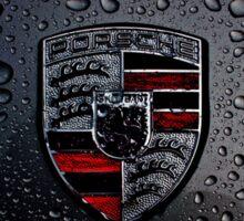 Porsche Logo ft Raindrops Sticker
