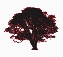 red and black tree retro truck stop tee  Kids Tee