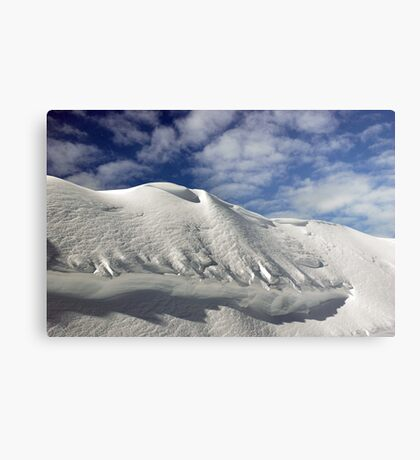 On the top of the World - Snow and Sky Metal Print