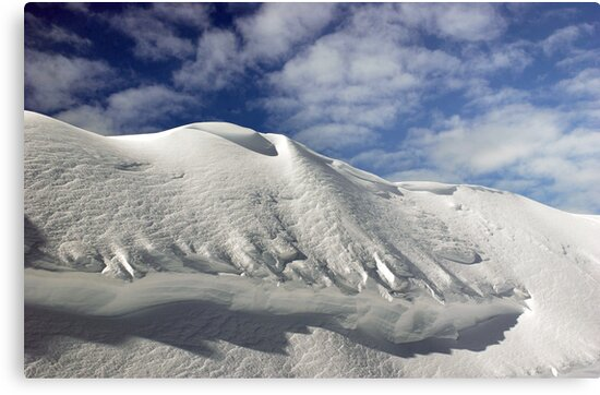 On the top of the World - Snow and Sky by Anton Oparin