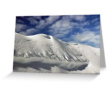 On the top of the World - Snow and Sky Greeting Card