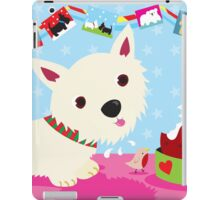 Westie and Christmas Pudding iPad Case/Skin