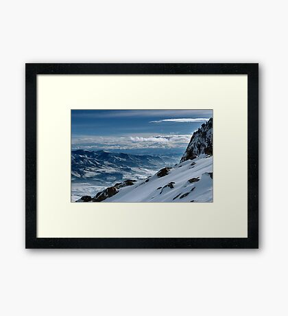 On the top of the World - Snowbasin Ski Slopes Framed Print
