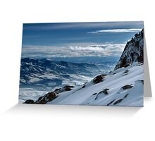 On the top of the World - Snowbasin Ski Slopes Greeting Card