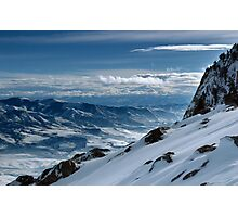 On the top of the World - Snowbasin Ski Slopes Photographic Print