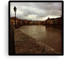 Walkin' in Pisa  Canvas Print